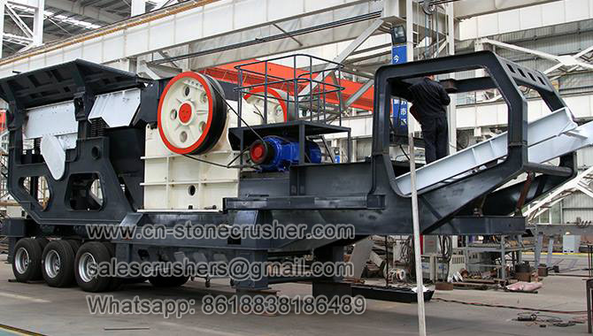 mobile crushing plant with jaw and cone crusher