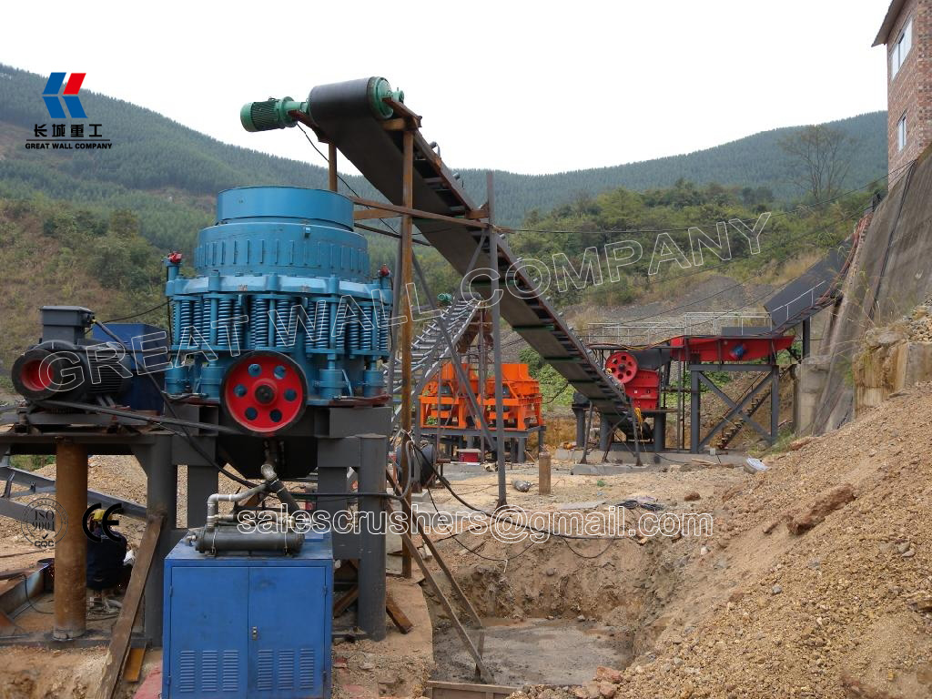 Cone crusher and jaw crusher for basalt crushing plant Philippines