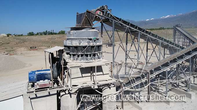 cone crusher and jaw crusher for crushing plant